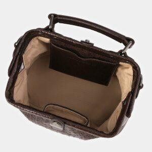 Удобная коричневая женская сумка ATS-4011 229344