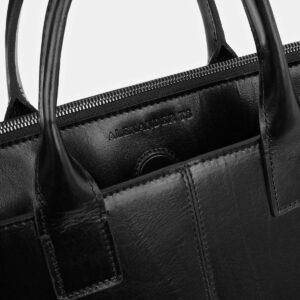 Стильный черный мужской портфель ATS-4023 229468