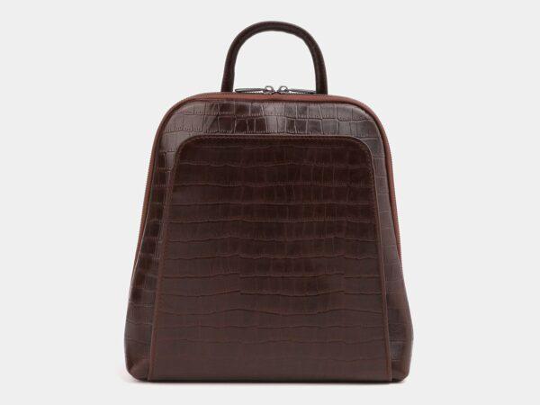 Функциональный коричневый рюкзак кожаный ATS-4015