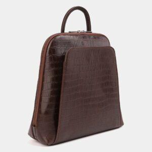 Функциональный коричневый рюкзак кожаный ATS-4015 229413