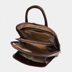 Функциональный коричневый рюкзак кожаный ATS-4015 229414