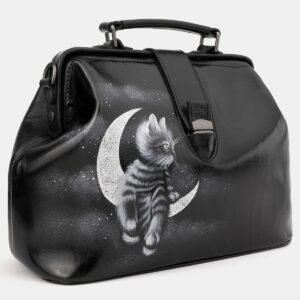 Солидная черная сумка с росписью ATS-4016 229500