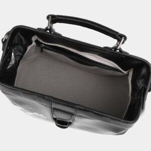 Солидная черная сумка с росписью ATS-4016 229502