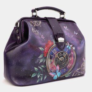 Уникальная фиолетовая сумка с росписью ATS-4021 229475