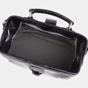 Уникальная фиолетовая сумка с росписью ATS-4021 229477