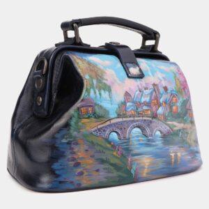 Солидная синяя сумка с росписью ATS-4018 229490