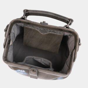 Стильная серая сумка с росписью ATS-4019 229487
