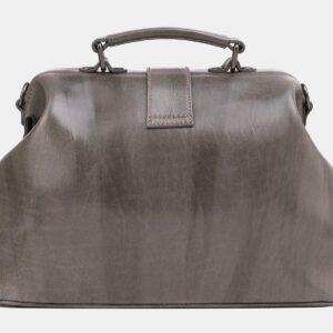 Вместительная серая сумка с росписью ATS-4020 229481