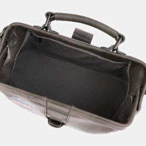 Вместительная серая сумка с росписью ATS-4020 229482