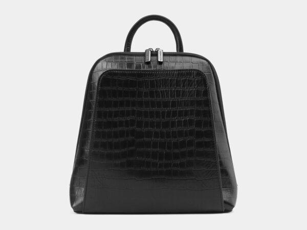 Стильный черный рюкзак кожаный ATS-4024