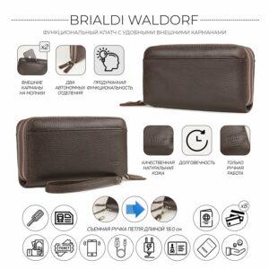 Кожаный коричневый мужской портмоне клатч BRL-32926 228785