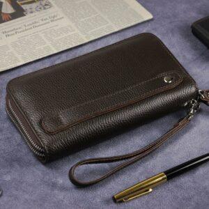 Стильный коричневый мужской портмоне клатч BRL-43904 229116