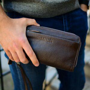 Стильный коричневый мужской портмоне клатч BRL-32922 228774
