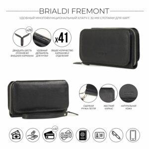 Стильный черный мужской портмоне клатч BRL-44372 229183