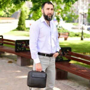 Кожаная коричневая мужская сумка через плечо BRL-19878 228247