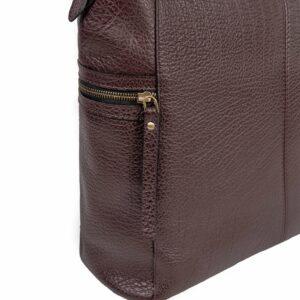 Деловая бордовая женская сумка через плечо BRL-47450 229791