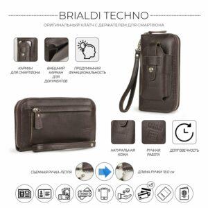 Кожаный коричневый мужской портмоне клатч BRL-32934 228853