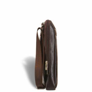 Вместительная коричневая мужская сумка через плечо BRL-12057 227846