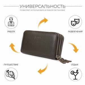 Удобный коричневый мужской портмоне клатч BRL-23059 228250