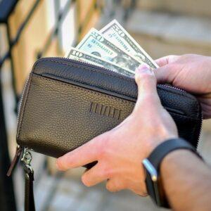 Кожаный коричневый мужской портмоне клатч BRL-32920 228754