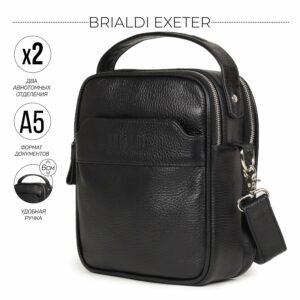 Деловая черная мужская сумка через плечо BRL-34399