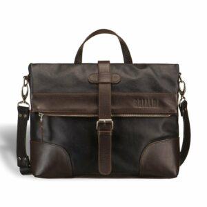 Вместительная черная мужская сумка трансформер через плечо BRL-3516 227661