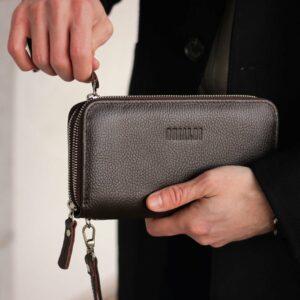 Стильный коричневый мужской портмоне клатч BRL-43904 229105
