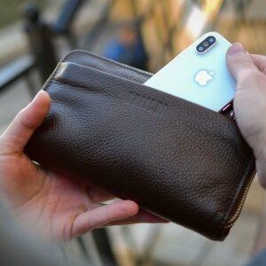 Стильный коричневый мужской портмоне клатч BRL-32922 228769