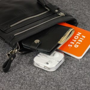 Удобная черная мужская сумка через плечо BRL-34404