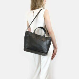 Стильная черная женская сумка через плечо BRL-47281 229781