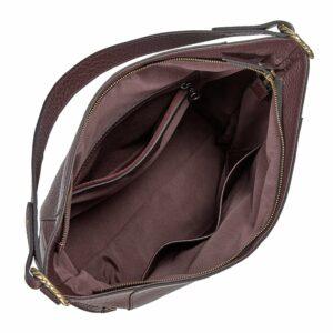 Деловая бордовая женская сумка через плечо BRL-47450 229790