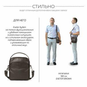 Удобная коричневая мужская сумка через плечо BRL-34400 228956