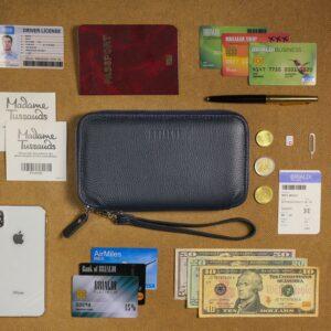 Уникальный синий мужской портмоне клатч BRL-23098 228333