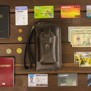 Кожаный коричневый мужской портмоне клатч BRL-32934 228863