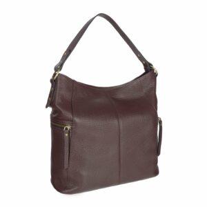 Деловая бордовая женская сумка через плечо BRL-47450