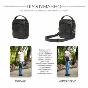 Деловая черная мужская сумка через плечо BRL-34399 229945