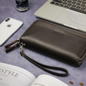 Кожаный коричневый мужской портмоне клатч BRL-32920 228763