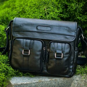 Стильная черная мужская сумка через плечо BRL-12995 227168