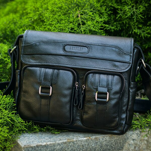 Деловая черная мужская сумка через плечо BRL-12995