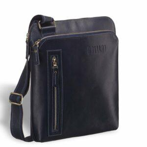 Вместительная синяя мужская сумка через плечо BRL-7561