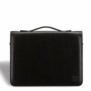 Вместительный черный мужской портфель саквояж BRL-9525
