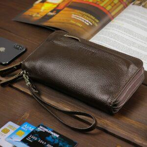 Стильный коричневый мужской портмоне клатч BRL-32922 228778
