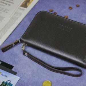 Солидный коричневый мужской портмоне клатч BRL-19842 228153