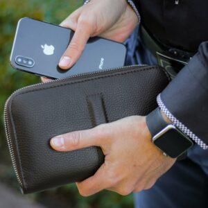 Уникальный коричневый мужской портмоне клатч BRL-26760 228473