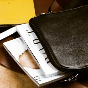 Кожаная черная мужская сумка мессенджер BRL-1022 229383
