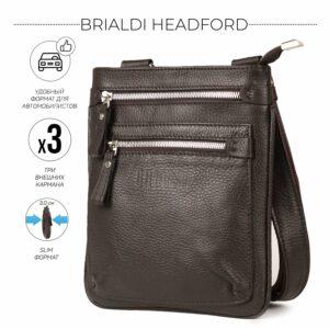 Модная коричневая мужская сумка через плечо BRL-34405