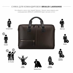 Функциональная коричневая дорожная сумка портфель BRL-23117 228375
