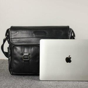 Стильная черная мужская сумка через плечо BRL-12995 227164