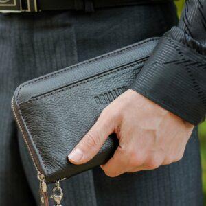 Деловой коричневый мужской портмоне клатч BRL-28615 228635