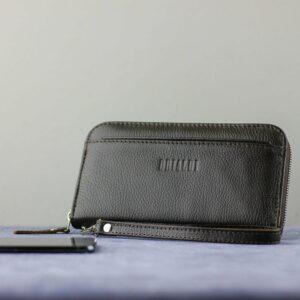 Деловой коричневый мужской портмоне клатч BRL-28618 228652